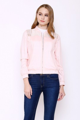 Jacket with lace combination
