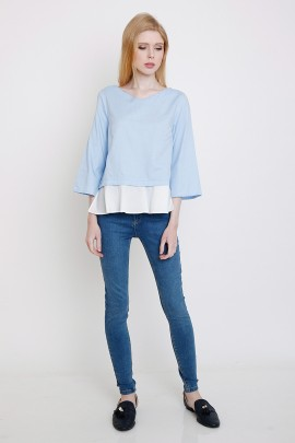 Top with contrast Frill - 2